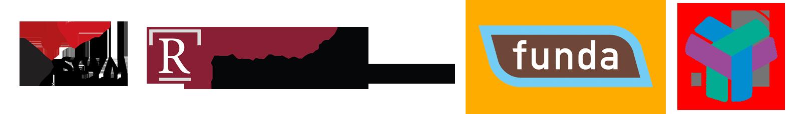 Meerdere logo's van keurmerken waarvan ook een aantal van toepassing zijn op de hypotheken die u bij makelaardij boekelo uit stadskanaal kunt afsluiten